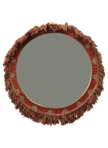 Warm Design Etnik İşlemeli Ayna Renkli